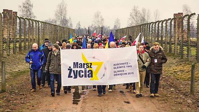 """מתנדבים עם ניצולי שואה (צילום: """"March of Life"""") (צילום:"""