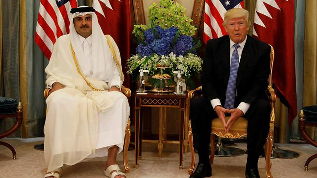 The Qatari emir and US president (Photo: Reuters)