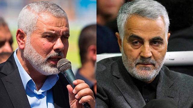 Haniyeh (L) and Soleimani (Photo: AFP) (Photo: AFP)