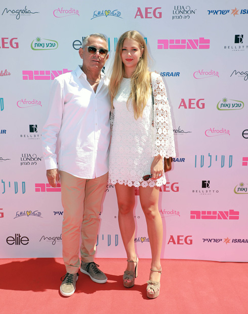 אסתי גינזבורג ויעקב גולברי, מעצב האופנה של בית גולברי (צילום: דנה קופל)
