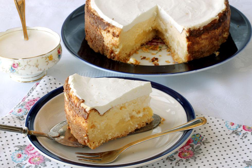 עוגת גבינה אפויה קלה (צילום, סגנון והכנה: אסנת לסטר)