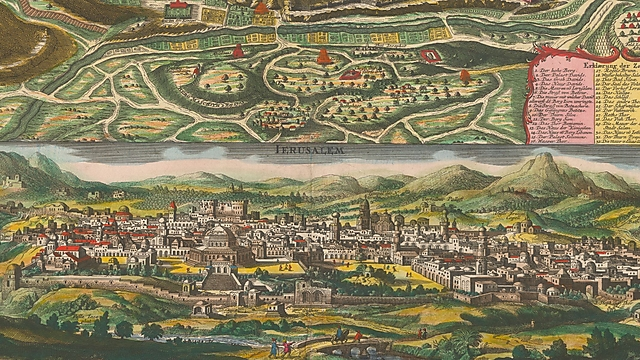 שתי מפות על גיליון אחד. מפת סויטר (צילום: הספרייה הלאומית)