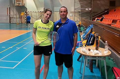 Ксения и ее тренер