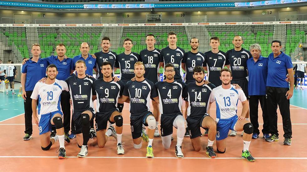 נבחרת ישראל בכדורעף (צילום: CEV)