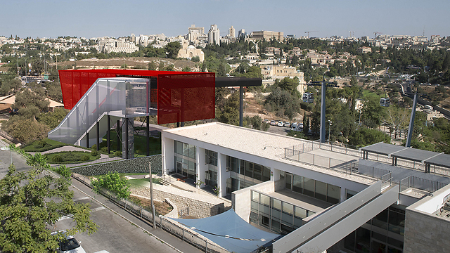 Illustration of cable car project (Photo: Jerusalem Development Authority)