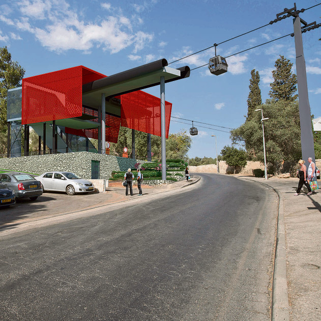 Cable car project in Jerusalem (Photo: Chen Wagshall)