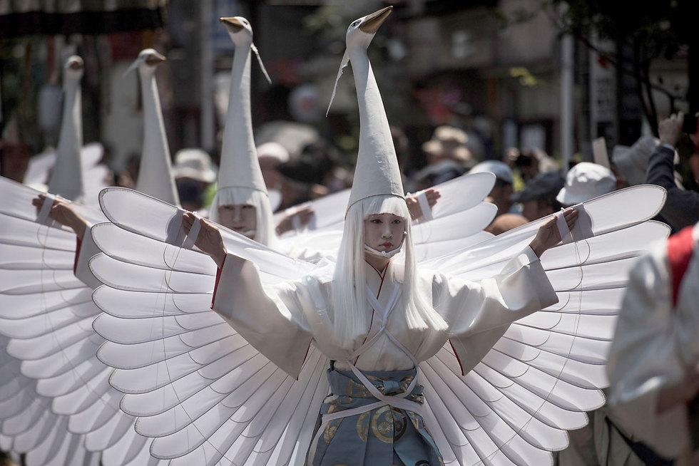 יותר מ-1.5 מיליון בני אדם השתתפו בפסטיבל סאנג'ה מאטסורי בטוקיו לכבוד בוא הקיץ (צילום: AFP)