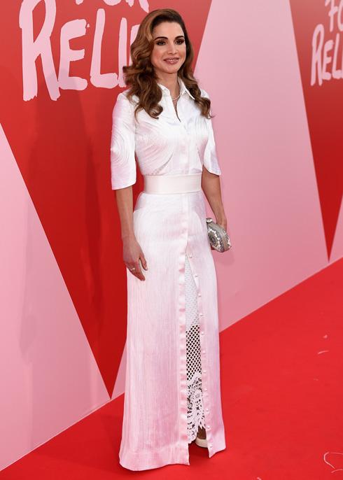 ראניה מלכת ירדן. נראית כמו מלכה אמיתית גם על השטיח האדום (צילום: Gettyimages)