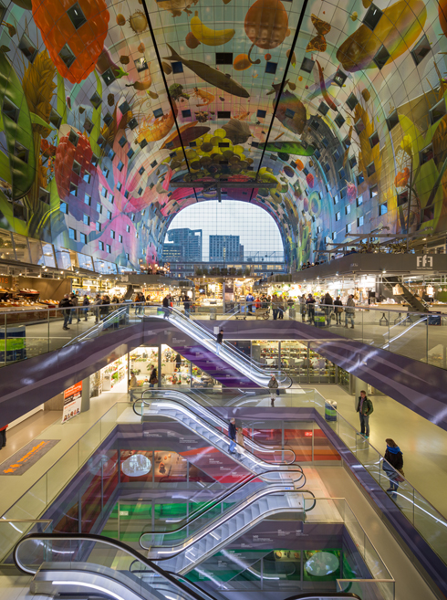 Market Hall ברוטרדם. אחד הפרויקטים הפוטוגניים ביותר באירופה בשנים האחרונות (צילום: © Ossip van Duivenbode, MVRDV)