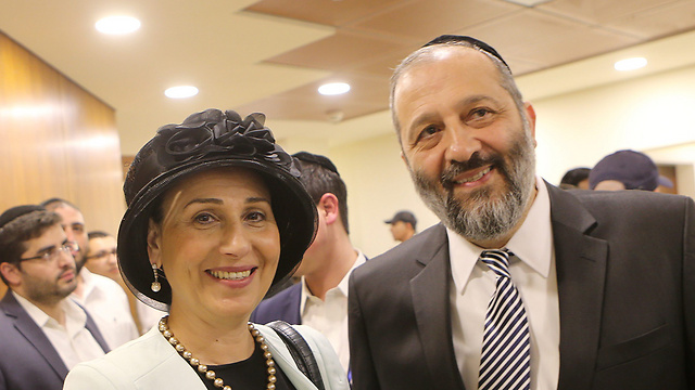 Aryeh Deri and his wife, Yaffa (Photo: Alex Kolomoisky) (Photo: Alex Kolomoisky)