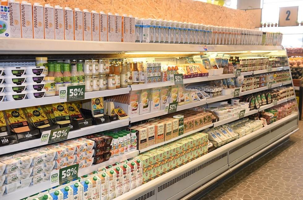 זה לא חלב ואלה לא גבינות. הכל פה צמחי (צילום: אלעד גוטמן) (צילום: אלעד גוטמן)