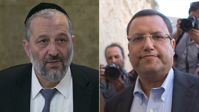 Deri and Moshe Lion (Photo: AFP and Ohad Zwigenberg)