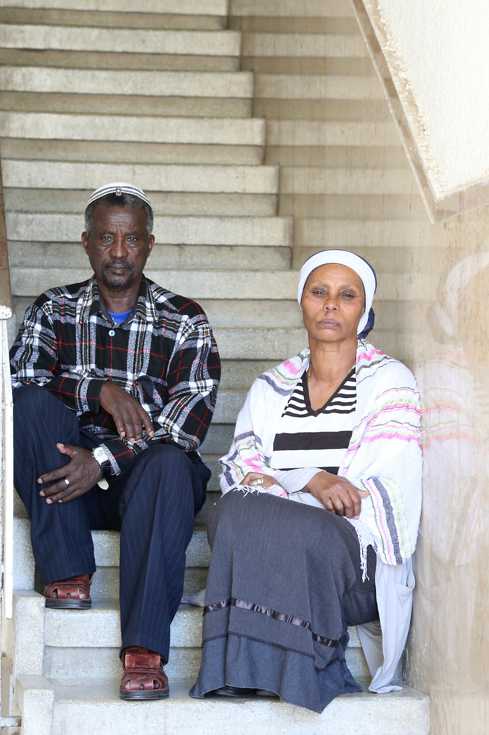 Ayaline and Agernash Mengistu, Abera's parents (Photo: Tomeriko)