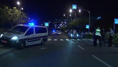 זירת התאונה (צילום: שמיר אלבז)