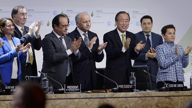החתימה על הסכם פריז ב-2015 (צילום: AFP) (צילום: AFP)