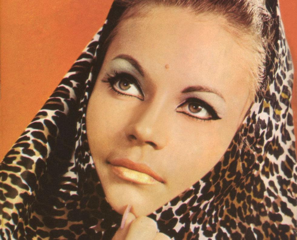 """קארן דונסקי על שער"""" לאשה"""" בשנת 1964 (צילום: אריה קרן)"""