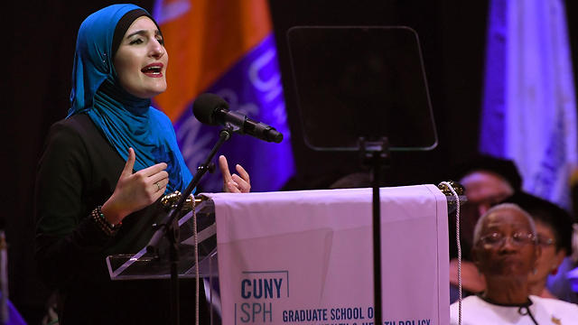 Linda Sarsour speaking at CUNY (Photo: AFP) (Photo: AFP)