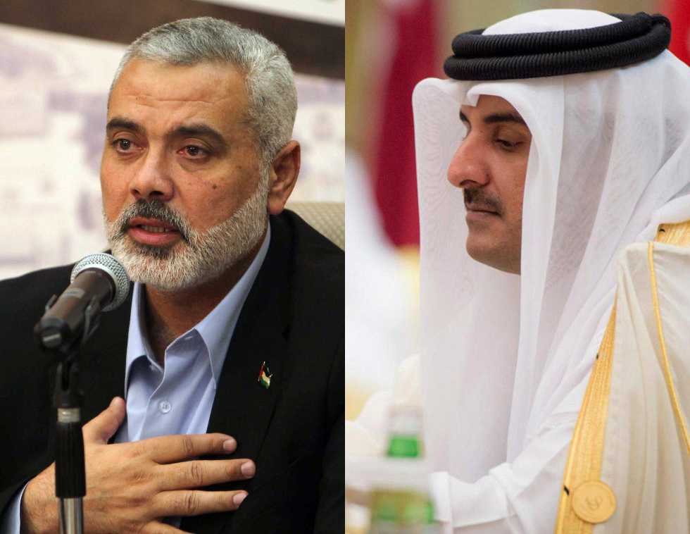 Tamim bin Hamad Al Thani and Ismail Haniyeh (Photo: AFP, Reuters) (Photo: Reuters/AFP)