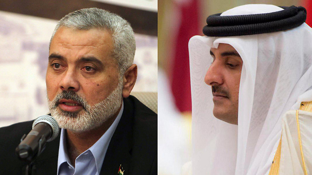 Political leader of Hamas Ismail Haniyeh (L) and Emir of Qatar Tamim bin Hamad Al Thani (Photo: AFP/Reuters)