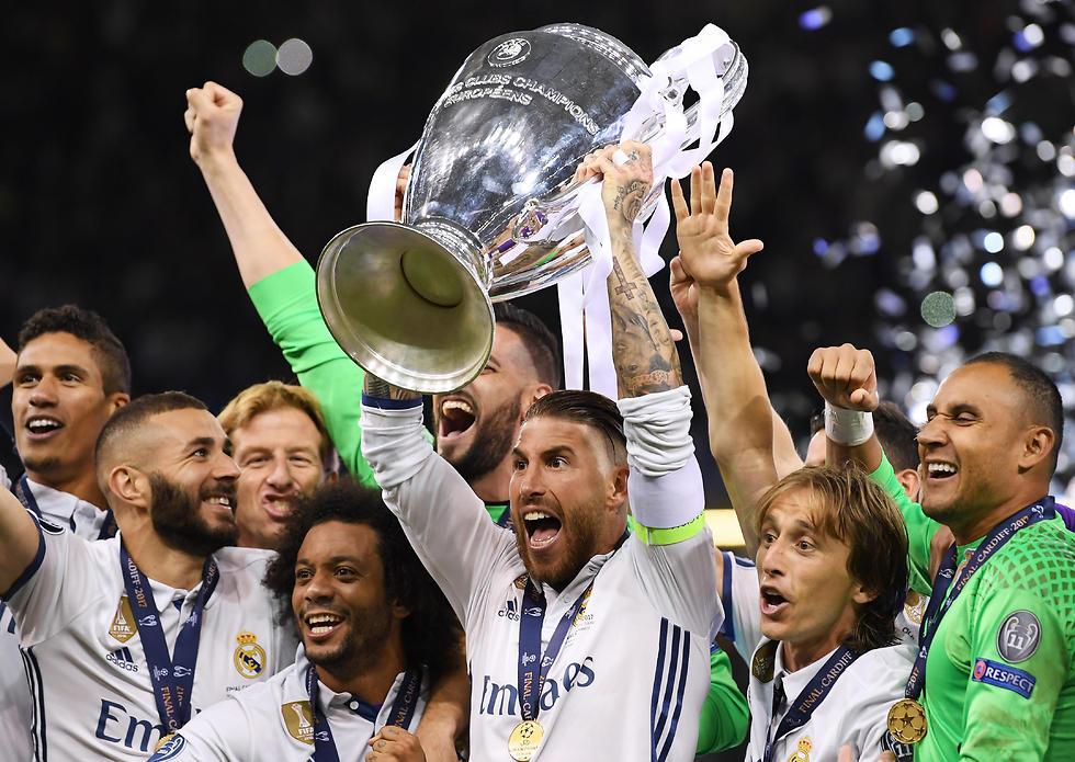 ריאל מדריד חוגגת זכייה בליגת האלופות ביוני האחרון (צילום: Getty Images) (צילום: Getty Images)