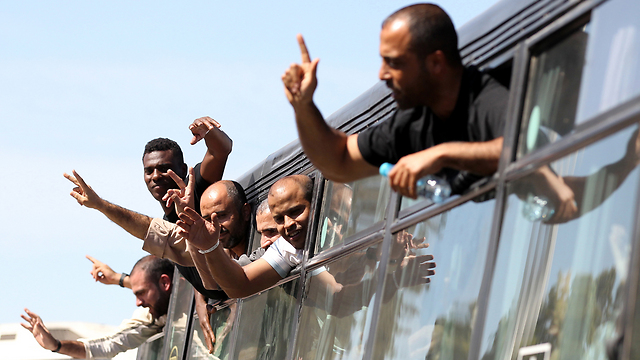 Palestinian prisoners (Photo: EPA) (Photo: EPA)