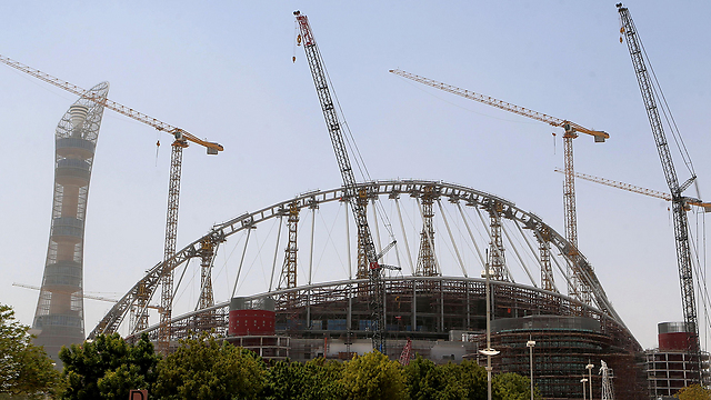 Stadium in Qatar preparing for World Cup (Photo: AFP)