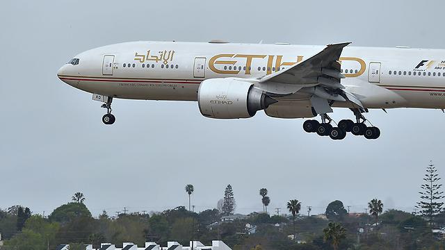 """מטוס חברת """"איתיחאד איירווייז""""  (צילום: AFP) (צילום: AFP)"""