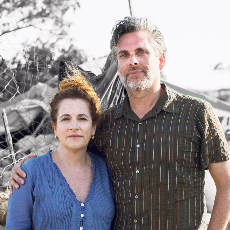 Ayelet Waldman and Michael Chabon. 'I started going to Friday night services at various synagogues, and then I met Ayelet and she sort of joined me on this exploration' (Photo: Oren Ziv, Activestills)