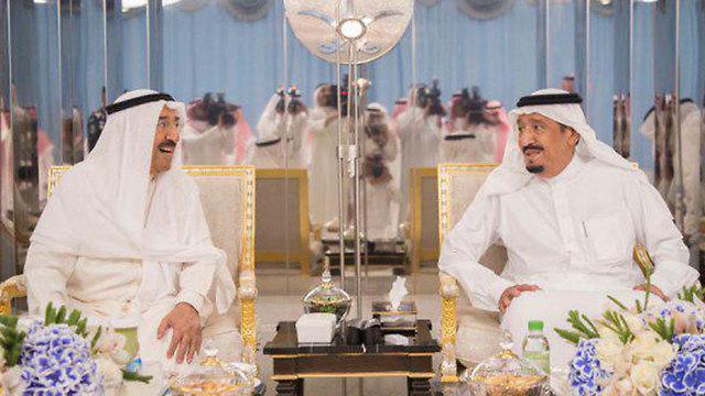 Emir of Kuwait and Saudi king (Photo: Twitter)