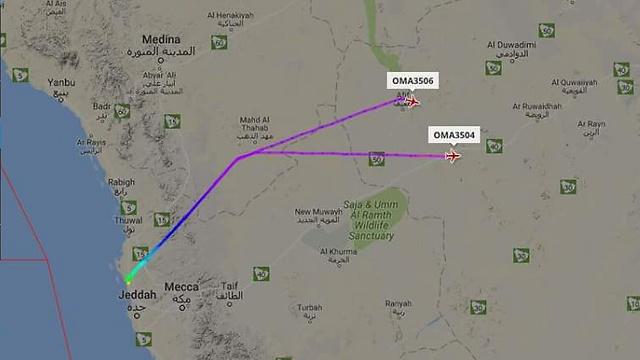"""טיסת """"עומאן"""" אייר אספה נוסעים מג'דה למוסקט ומשם המשיכו לדוחא"""