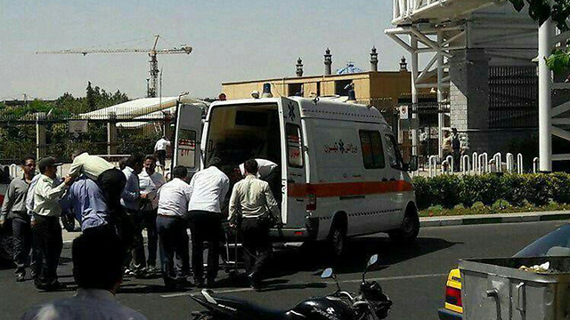 Outside the Iranian parliament after the shooting