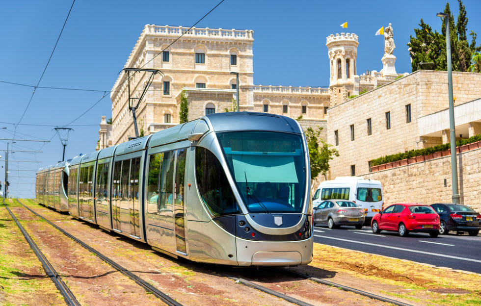 Иерусалимский трамвай. Фото: shutterstock