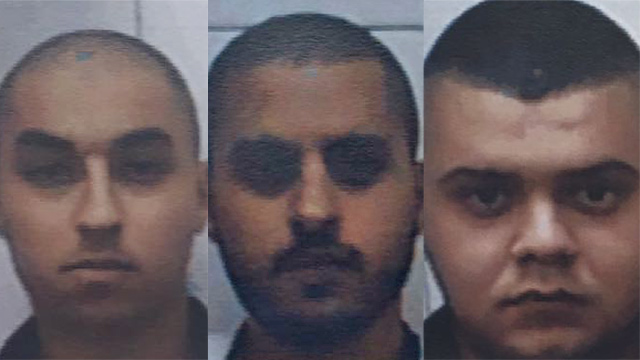 The three suspects (Photo: Shin Bet) (Photo: Shin Bet)
