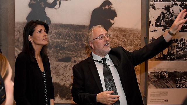 "Представитель США в ООН Никки Хейли во время визита в ""Яд ва-Шем"". Фото: Matty Stern/U.S. Embassy Tel Aviv"