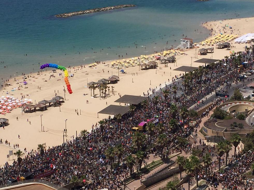 מצעד הגאווה בתל אביב (צילום: יהונדב בר עוז) (צילום: יהונדב בר עוז)