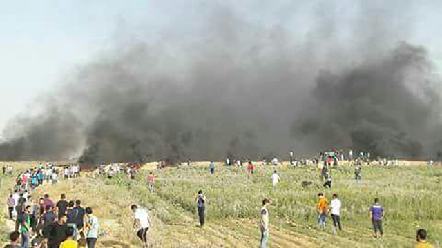Clashes on Gaza border Friday