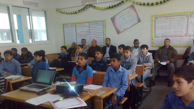 An UNRWA school. Brainwashing regarding  the 'right of return'