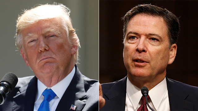"""אינו כשיר מוסרית"". ג'יימס קומי ודונלד טראמפ (צילום: רויטרס, AP)"