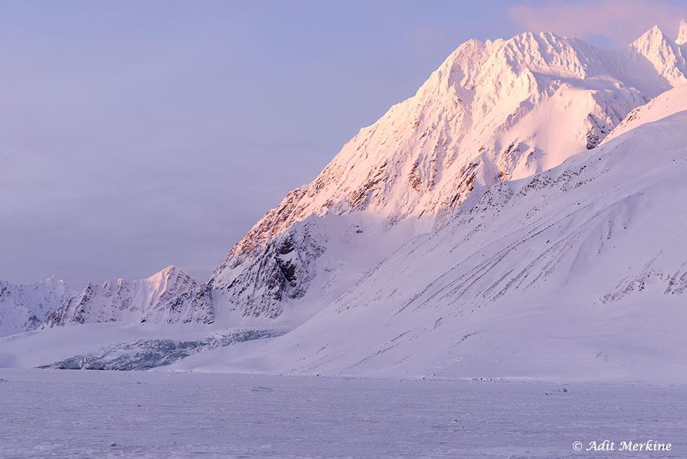 Samarin Bay. האזור בו תועדו דובי הקוטב בחיזור (צילום: עדית מרקין ©)