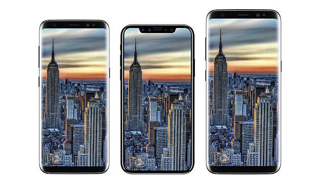 אייפון 8 בין צמד מכשירי הגלקסי 8 (צילום מסך: iDrop)