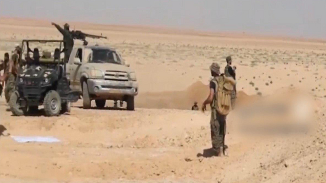 Syrian army at the border with Iraq
