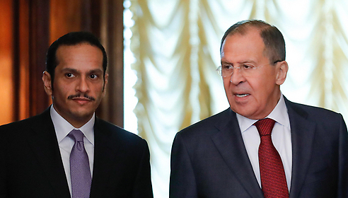 Al-Thani (L) and Lavrov (Photo: MCT)