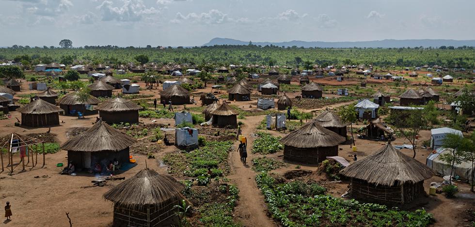 מחנה הפליטים בידי בידי באוגנדה שאליו ברחו פליטים ממלחמת האזרחים העקובה מדם בדרום סודן (צילום: AP)