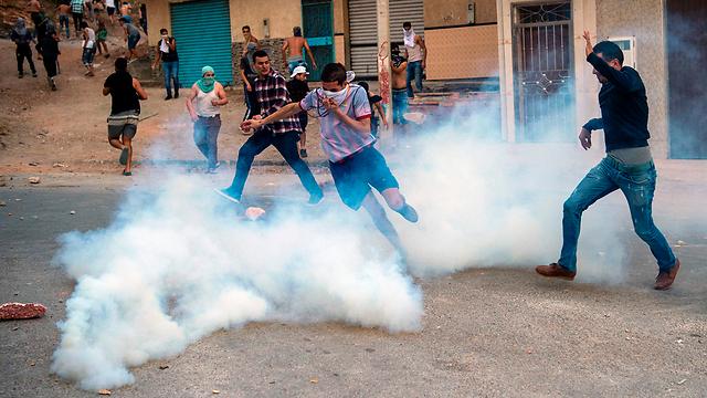 ההפגנה היום ברבאט (צילום: AFP)