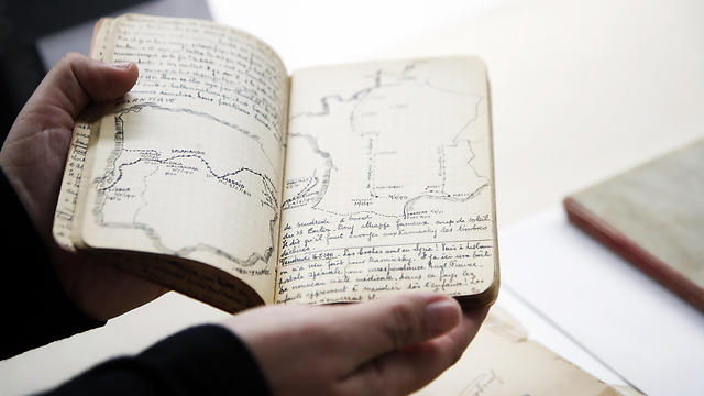 A page of Joseph Stripounsky's diary with a sketch showing a map, is shown at the Holocaust Memorial Museum in Washington, Wednesday, June 7, 2017 (Photo: AP) (Photo: AP)