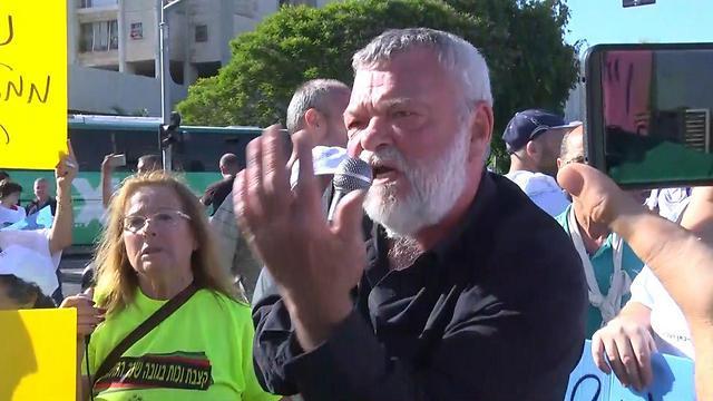 """ח""""כ אילן גילאון בהפגנה (צילום: יוגב אטיאס) (צילום: יוגב אטיאס)"""
