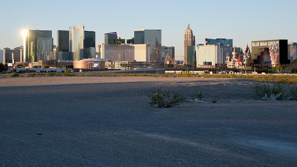 השטח בלאס וגאס בו יוקם אצטדיון הפוטבול של הריידרס (צילום: getty images)