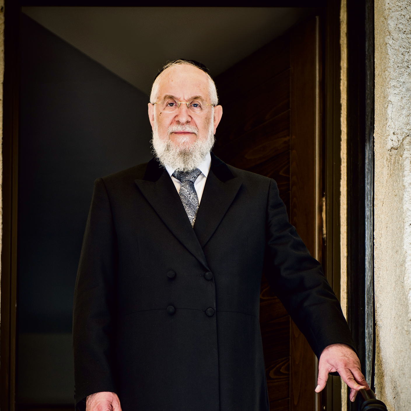 Rabbi Lau, last week. 'I find Judaism studies more important than math studies, but I accept the fact that someone else finds math more important. There's no contradiction' (Photo: Gabriel Baharlia)