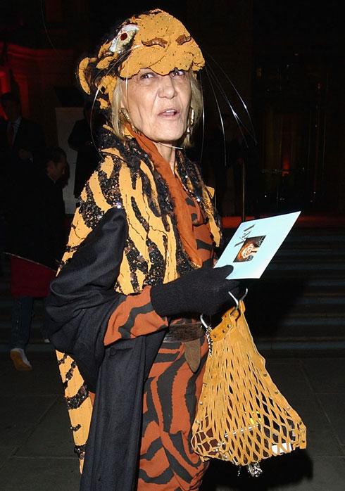 """אמרה על אופנה שהיא """"קשה מדי ומגעילה מדי"""". פלנברג במסיבה של ויויאן ווסטווד, 2004 (צילום: Gettyimages)"""