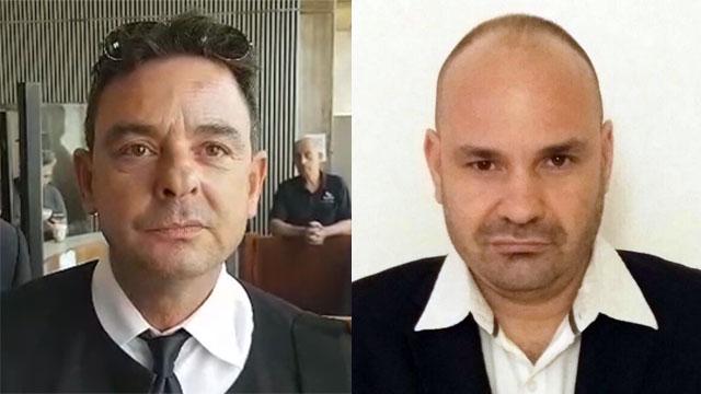 עורכי הדין דניאל חקלאי (מימין) ודניאל כפיר ()